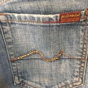 7 for all man kind embellished jeans